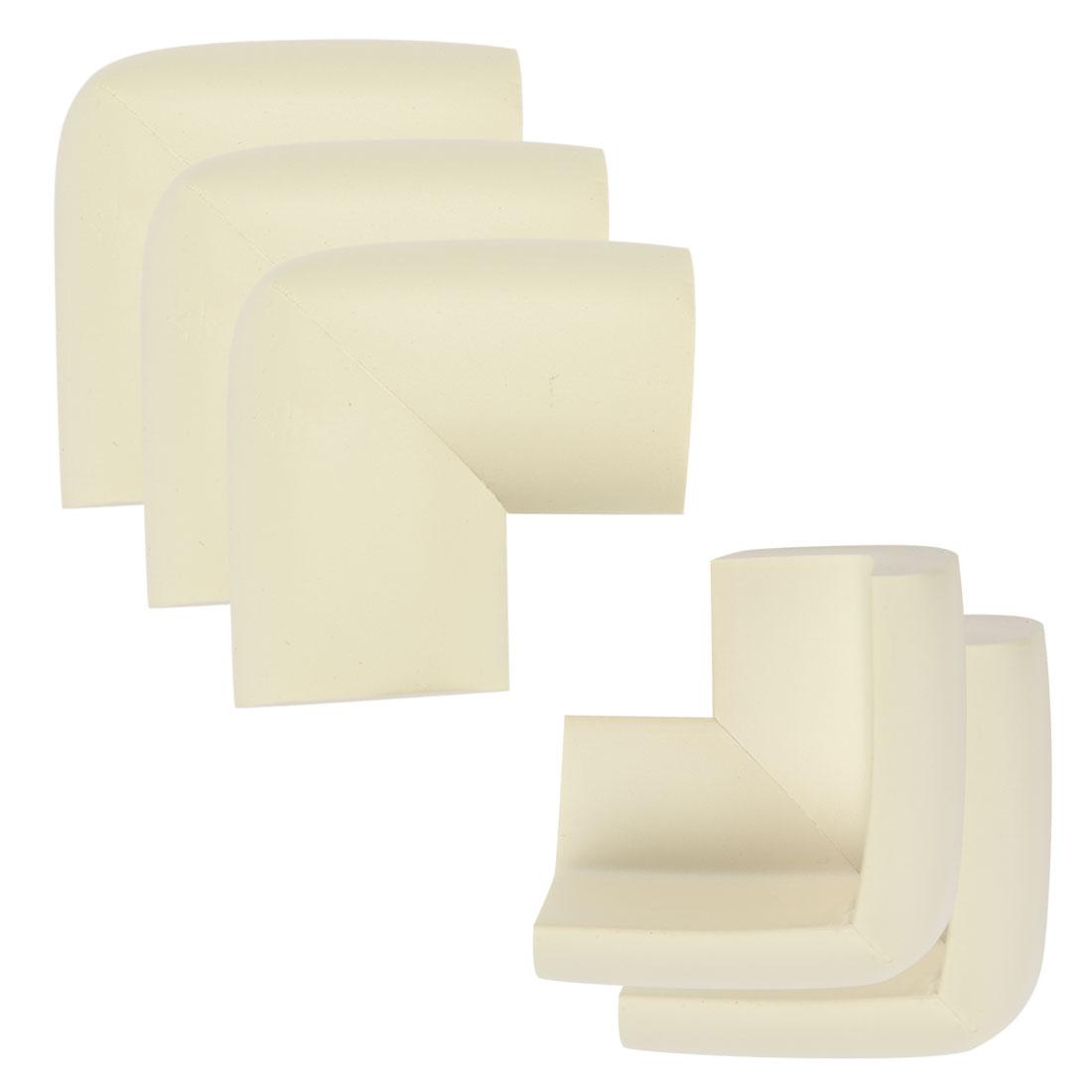 Desk Table Edge Foam Corner Cushion Guards Soft Bumper Protector 5pcs Beige