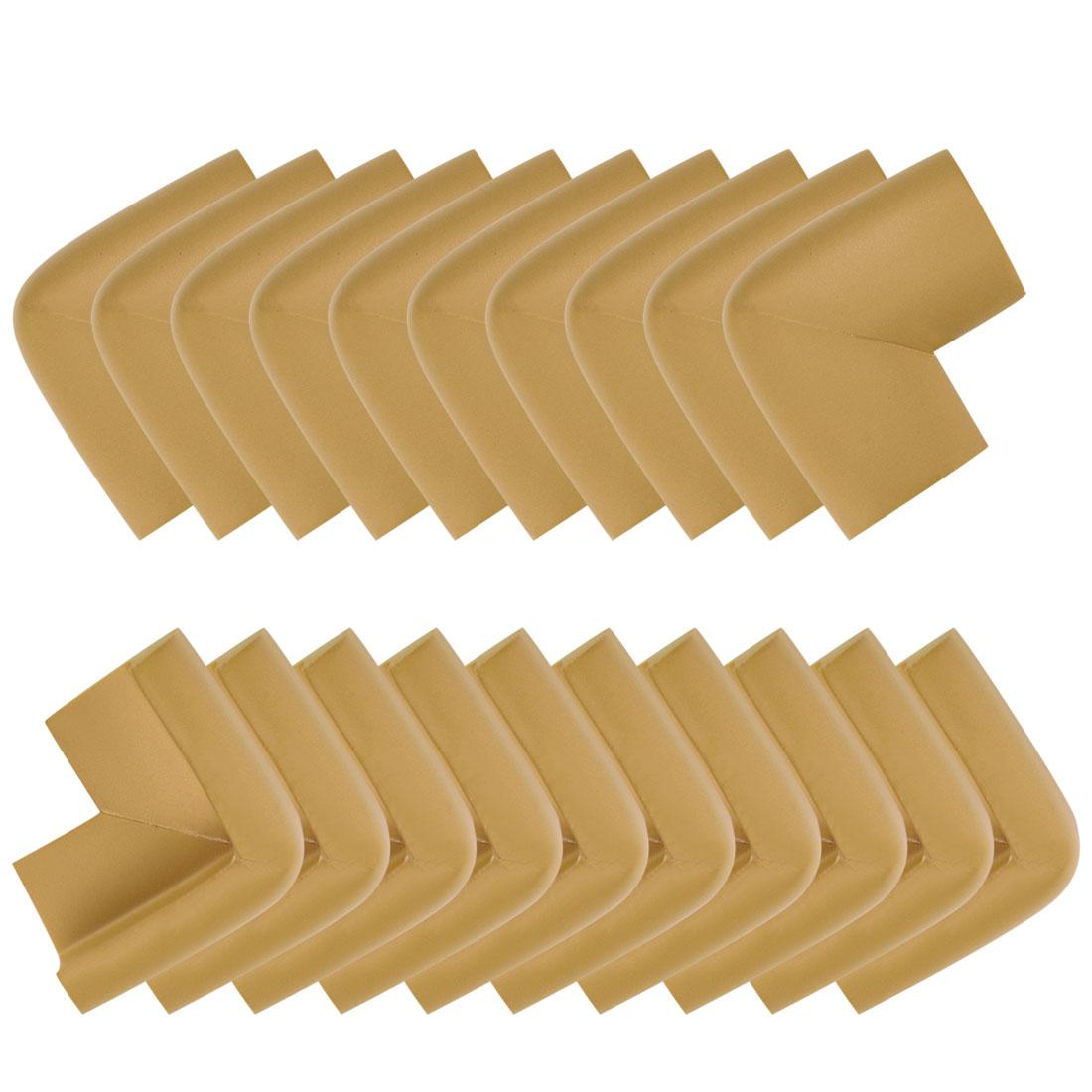 Desk Table Edge Foam Corner Cushion Guards Soft Bumper Protector 20pcs Brown