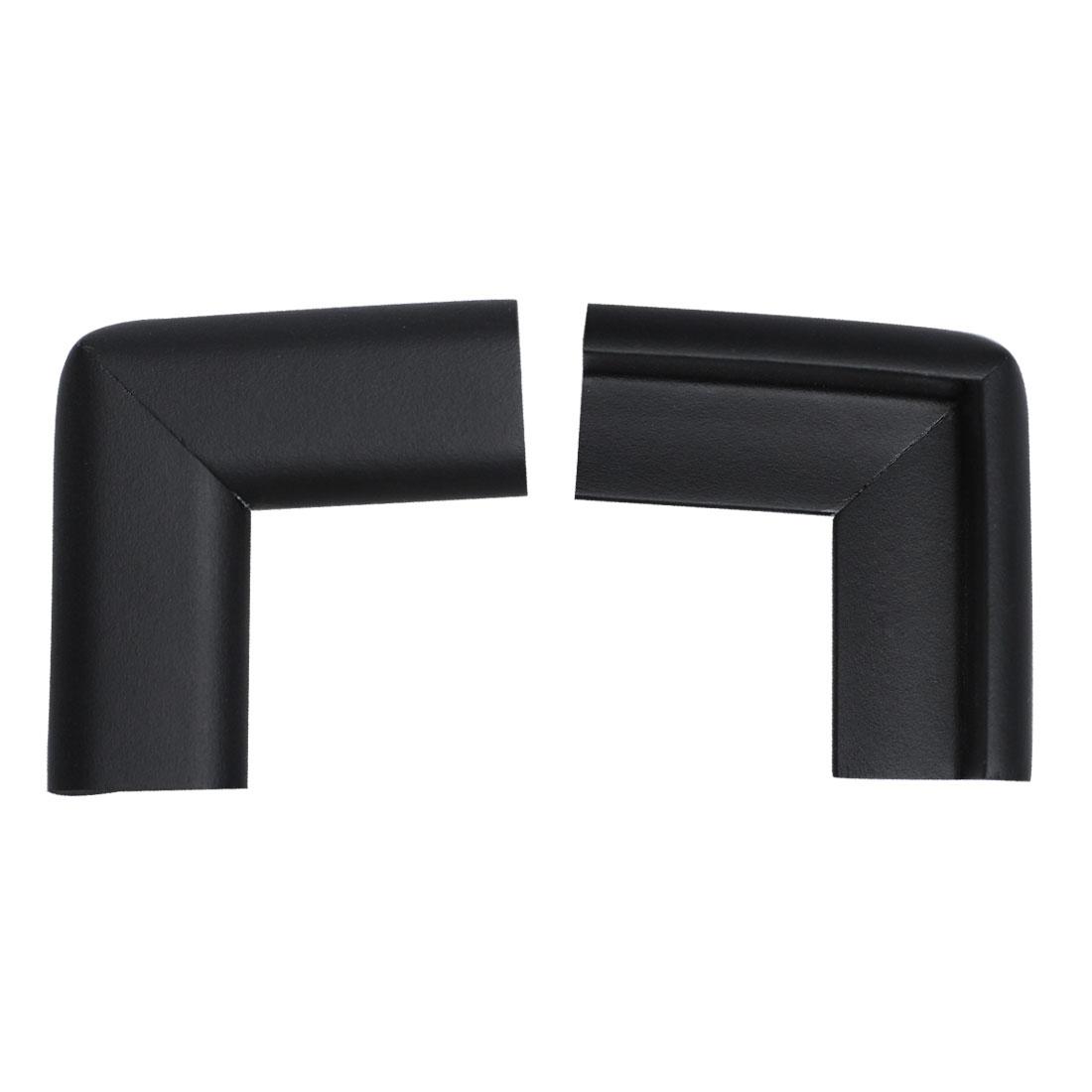 Desk Table Edge Foam Corner Cushion Guard Soft Bumper Protector 2pcs Black