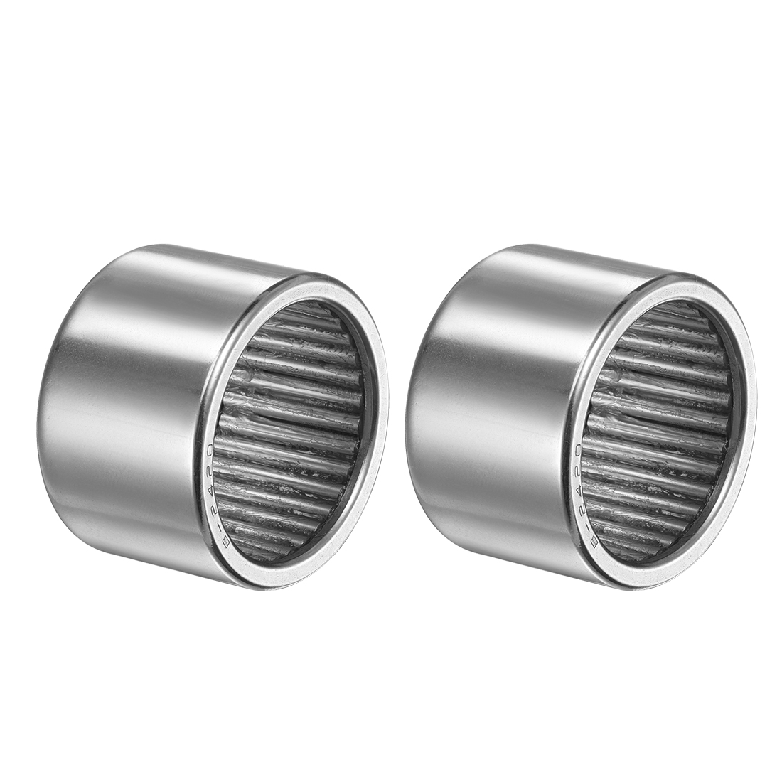 """B2420 Needle Roller Bearings 1-1/2x1-7/8x1-1/4"""" Full Complement Drawn Cup 2pcs"""