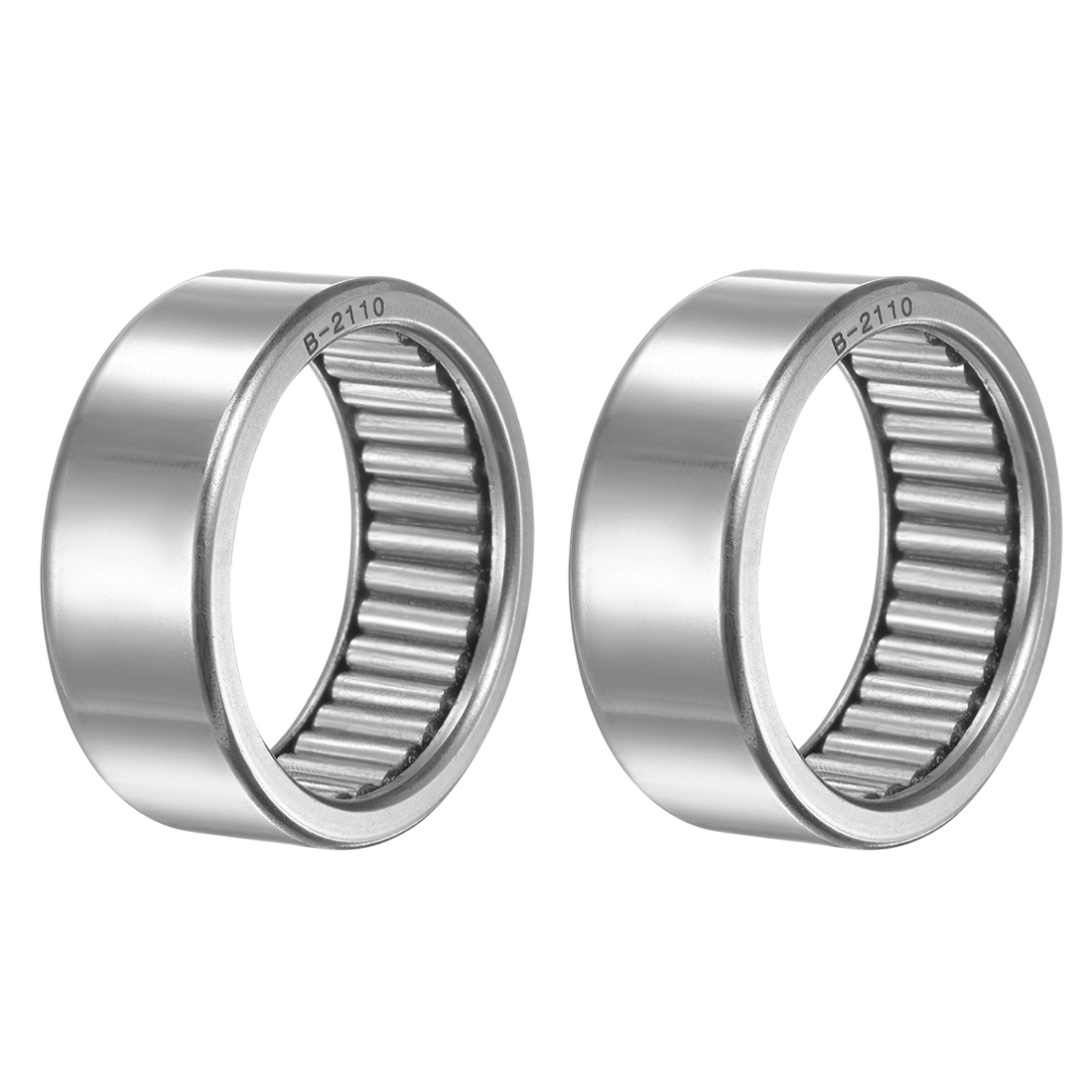 """B2110 Needle Roller Bearings 1-5/16""""x1-5/8""""x5/8"""" Full Complement Drawn Cup 2pcs"""