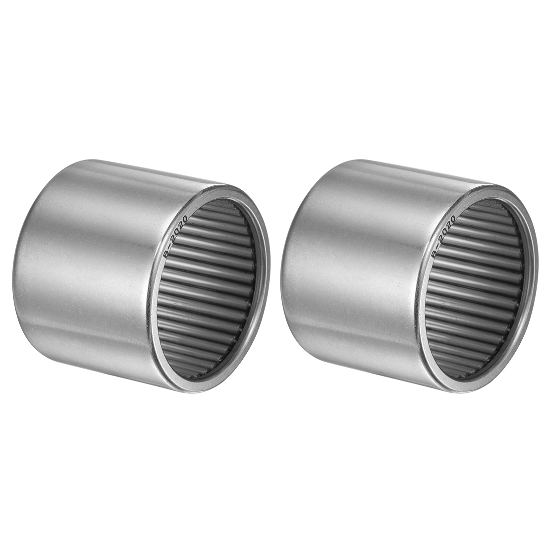"""B2020 Needle Roller Bearings 1-1/4x1-1/2x1-1/4"""" Full Complement Drawn Cup 2pcs"""