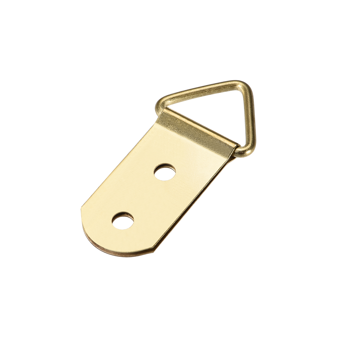 Triangle Ring Picture Hangers, 40mm x 19mm Golden Kit for Photo Hanging, 20 Pcs