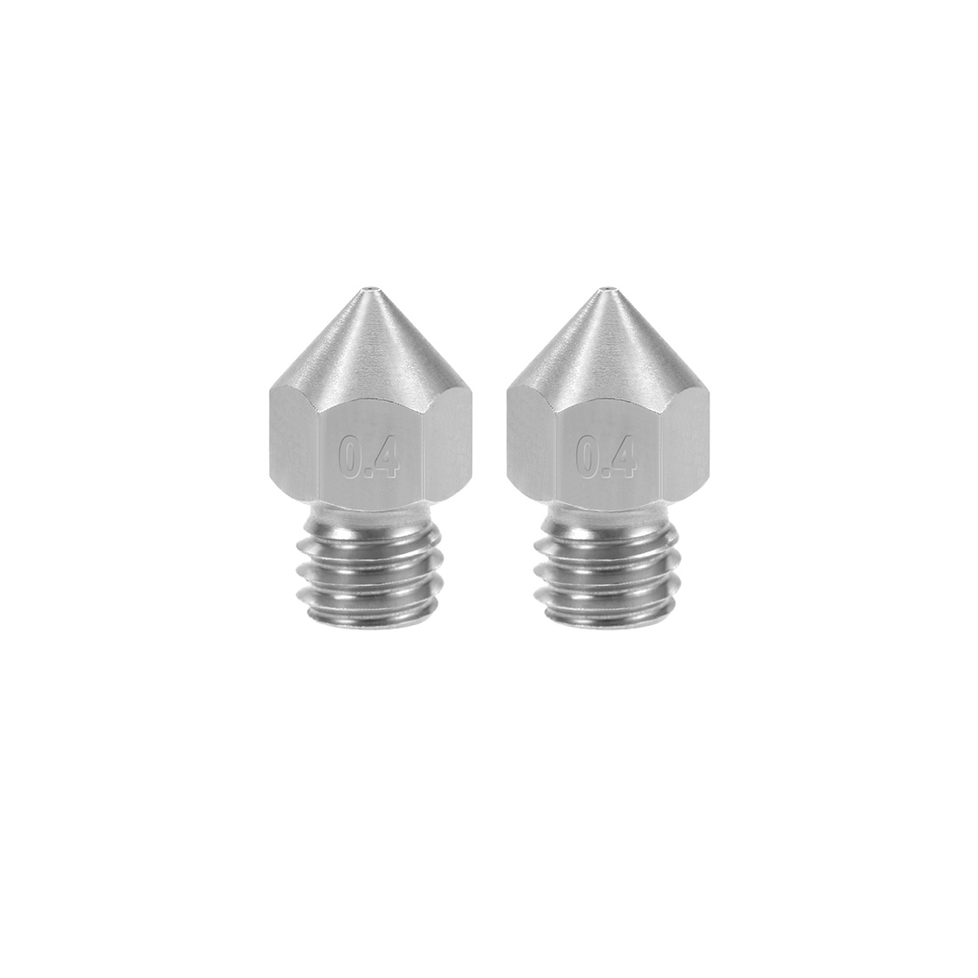 0.4mm 3D Printer Nozzle Head M6 Thread for MK8 1.75mm Extruder Print 2pcs