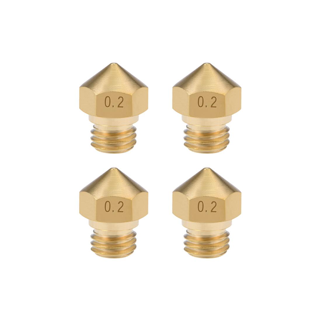 0.2mm 3D Printer Nozzle Head M7 Thread for MK10 1.75mm Extruder Print 4pcs