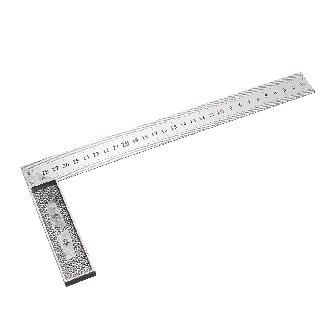 L Square 300mm Stainless Steel 90 Degree Angle Ruler Right Measuring Layout Tool