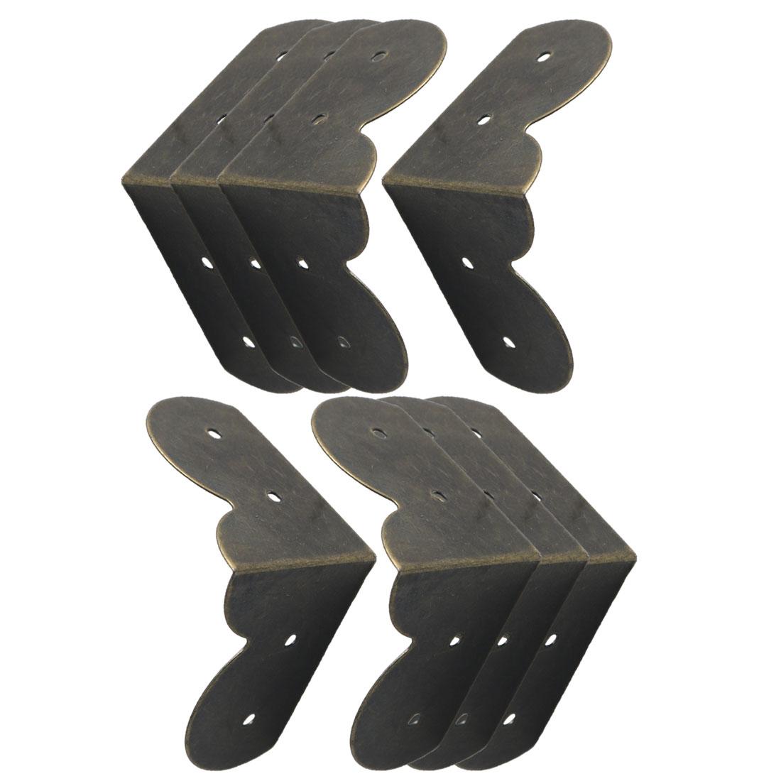 8pcs Box Corner Protectors Bronze Tone Guard Edge Cover Desk Box Corner Decor