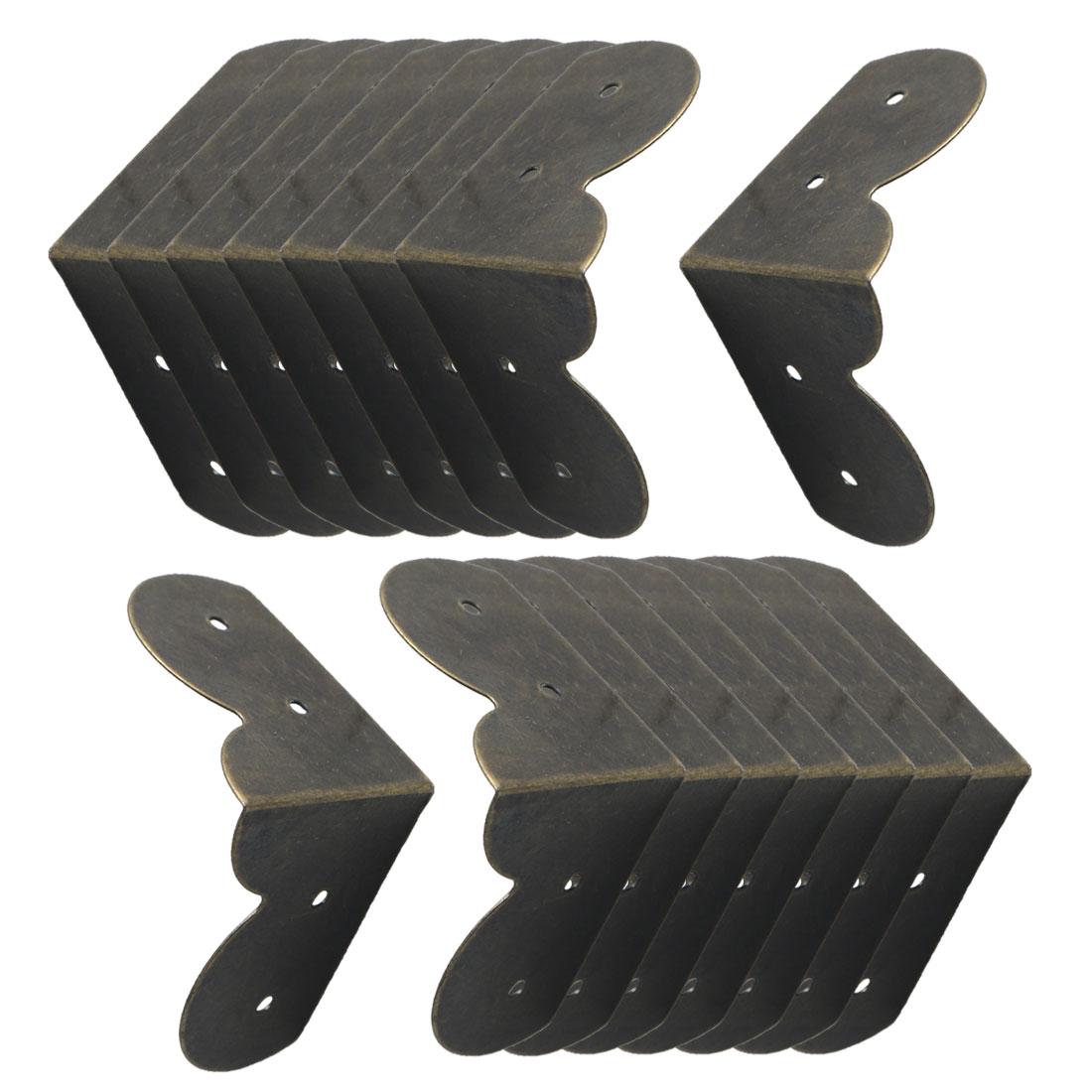 16pcs Box Corner Protectors Bronze Tone Guard Edge Cover Desk Box Corner Decor
