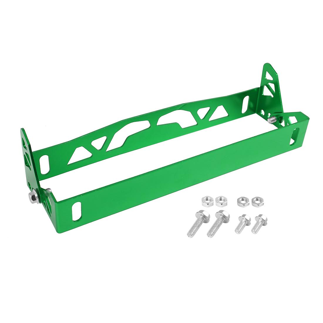 Universal Green License Plate Frame Adjustable Aluminum Alloy Holder Bracket