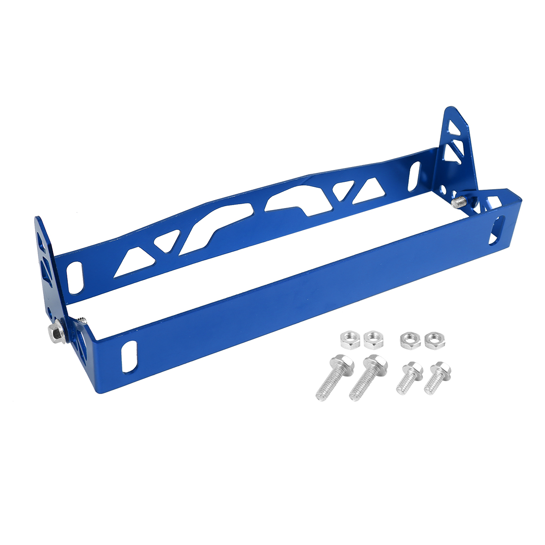 Universal Blue License Plate Frame Adjustable Aluminum Alloy Holder Bracket