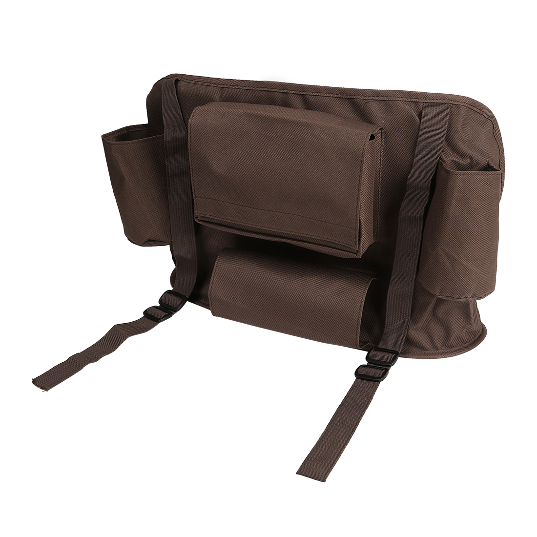 Brown Car Vehicle Back Seat Organizer Holder Travel Storage Bag Multi-Pocket