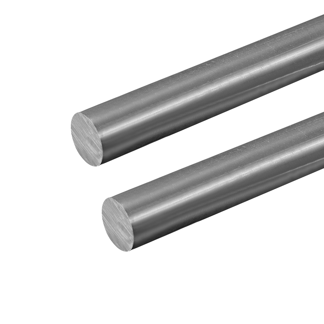 "PVC Round Rods ,20mm Dia, 20"" Length, Grey Engineering Plastic Round Rod 2 pcs"
