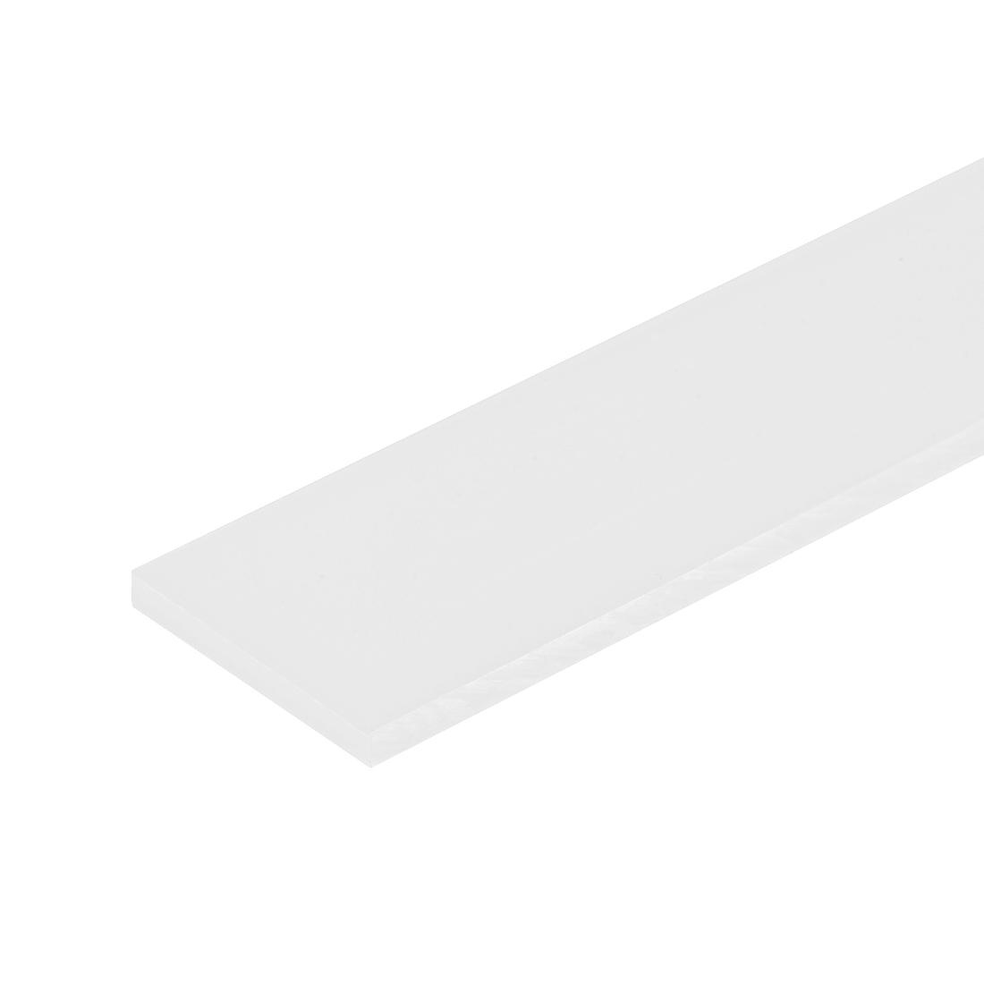 "Nylon Plastic Welding Rod,12"" Length, White Engineering Plastic Retangle Bar"
