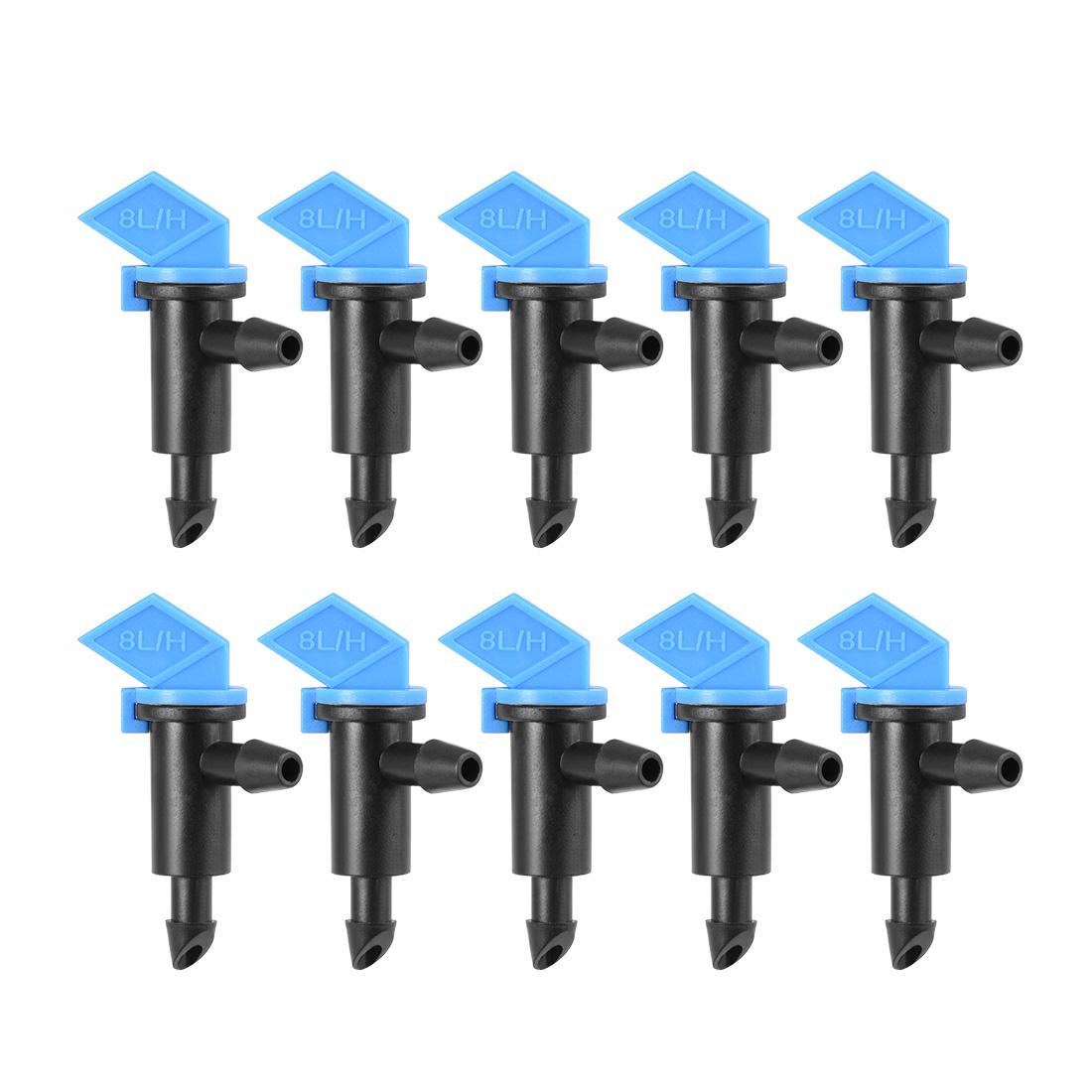 Flag Dripper 2 GPH 8L/H Emitter Sprinkler Lawn Drip Irrigation 4/7mm Hose 10pcs