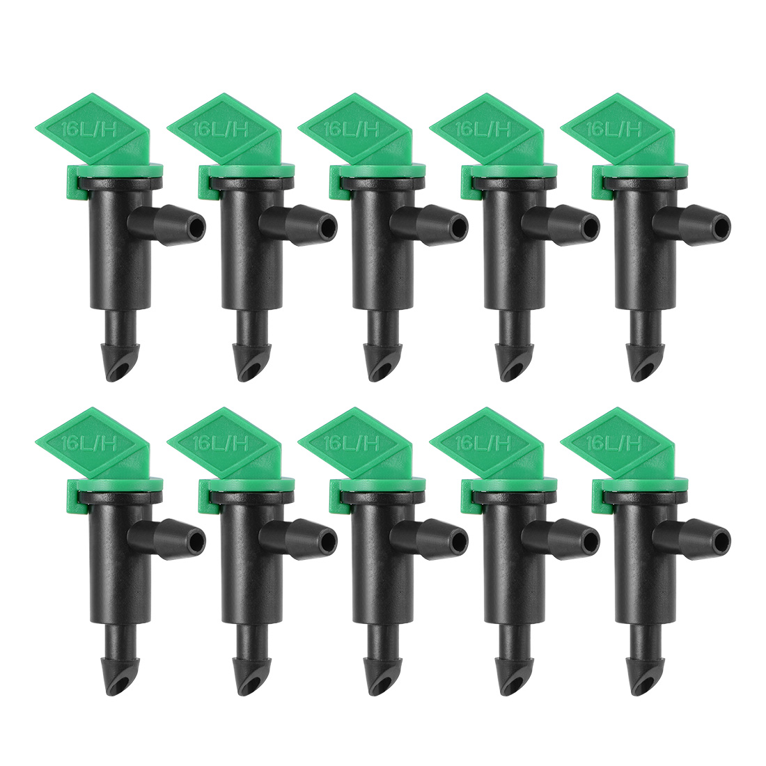 Flag Dripper 4 GPH 16L/H Emitter Sprinkler Lawn Drip Irrigation 4/7mm Hose 10pcs