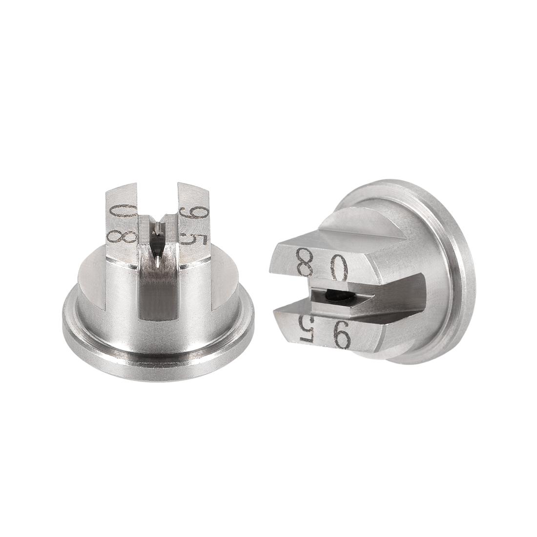 Flat Fan Spray Tip, 95 Degree Stainless Steel Nozzle, 2 Pcs (1.8mm Orifice Dia)