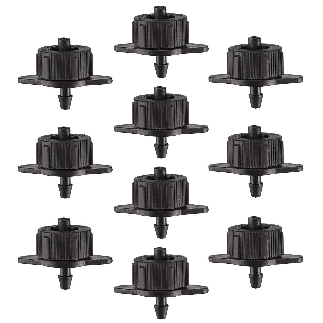 50x Pressure Compensating Dripper 1GPH 4L/H Emitter Garden Drip Irrigation Black
