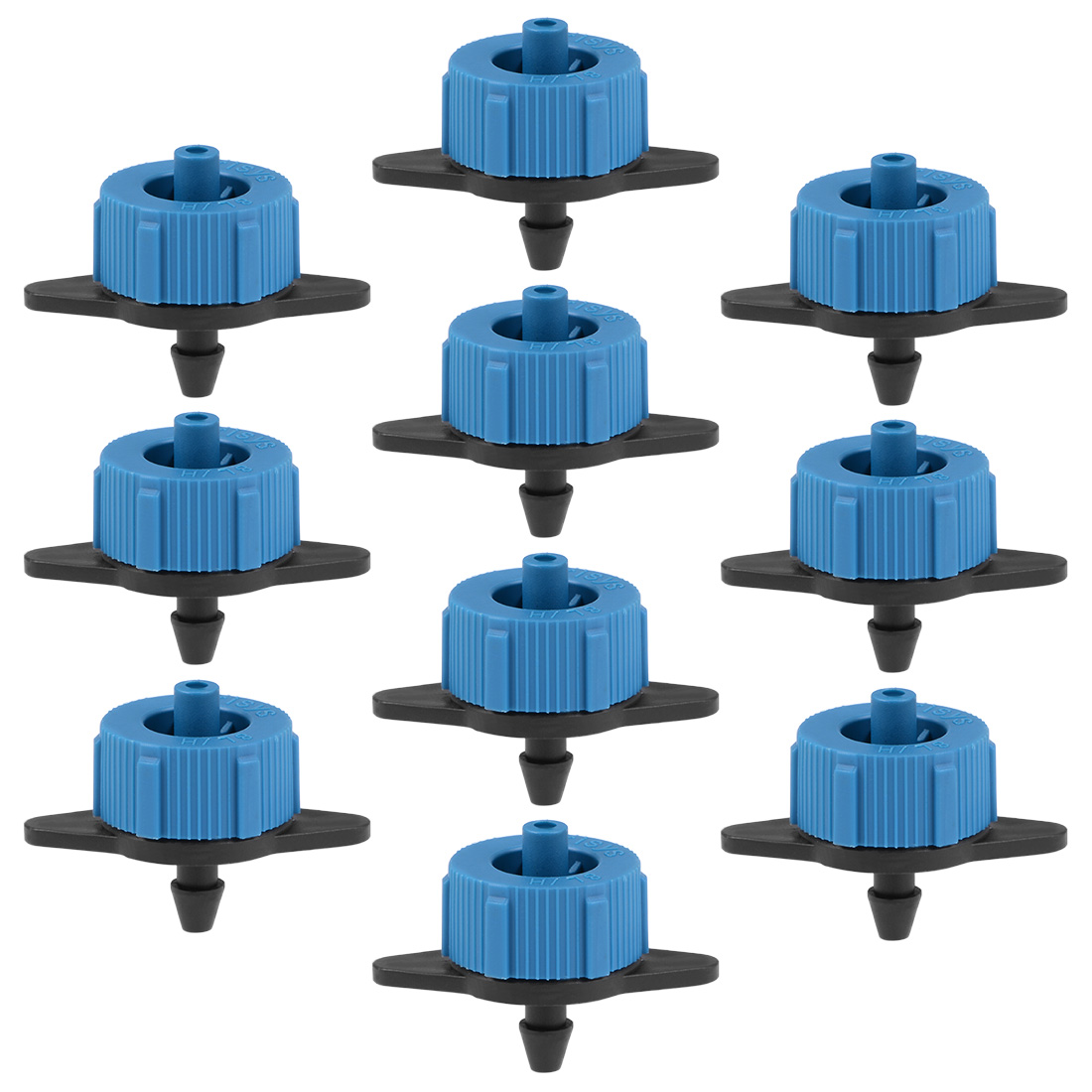 50x Pressure Compensating Dripper 2GPH 8L/H Emitter Garden Irrigation Black Blue
