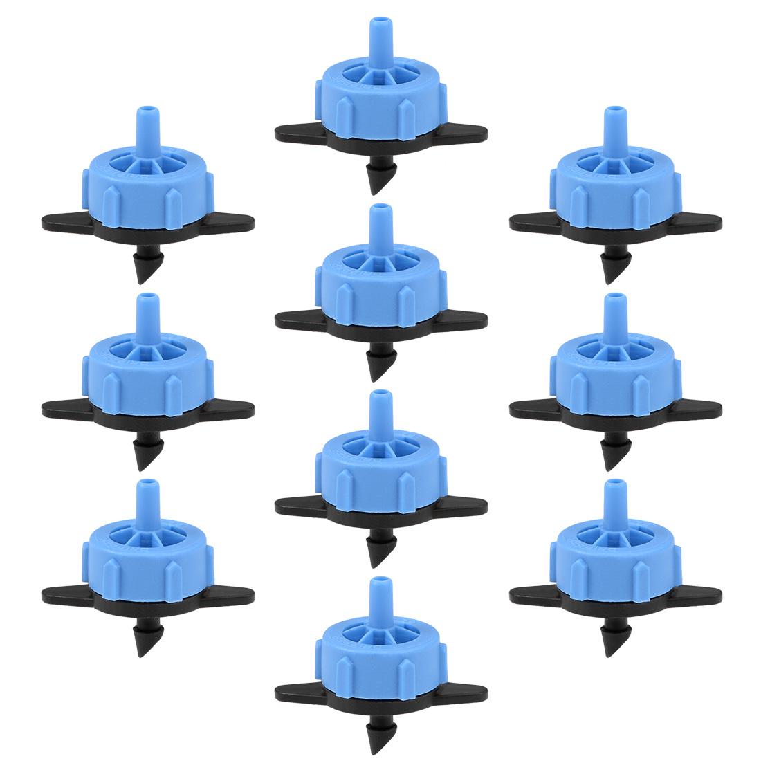 Pressure Compensating Dripper 2GPH 8L/H Emitter Drip Irrigation Black Blue 50pcs