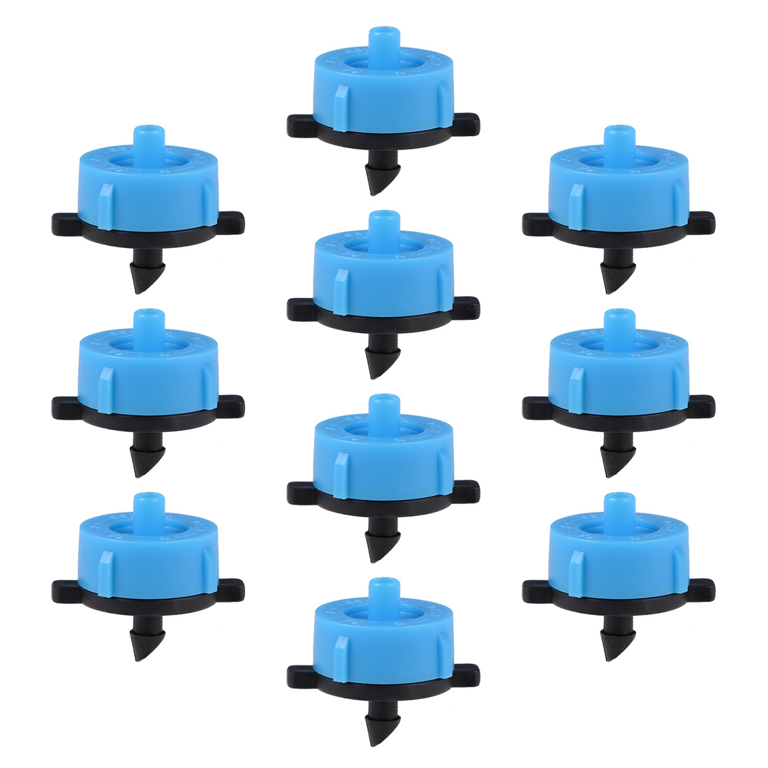 Pressure Compensating Dripper 4GPH 16L/H Emitter Lawn Drip Irrigation Blue 30pcs