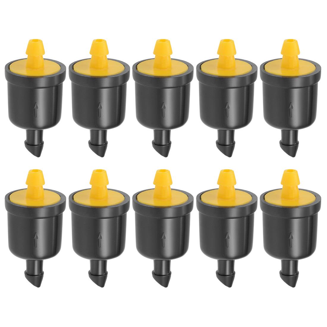 Pressure Compensating Dripper 5GPH 20L/H Emitter Lawn Irrigation Yellow 10pcs
