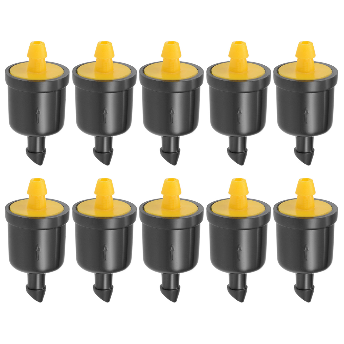 Pressure Compensating Dripper 5 GPH 20L/H Emitter Lawn Irrigation Yellow 50pcs