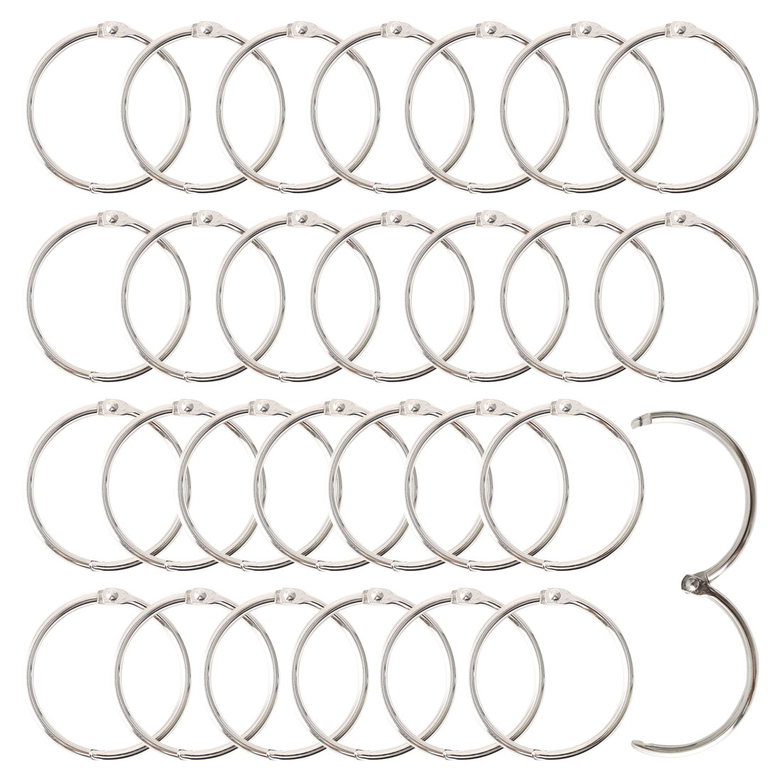 "Metal 1.5"" Shower Curtain Hook Rolling Hooks Clip Bathroom Decorative 28pcs"