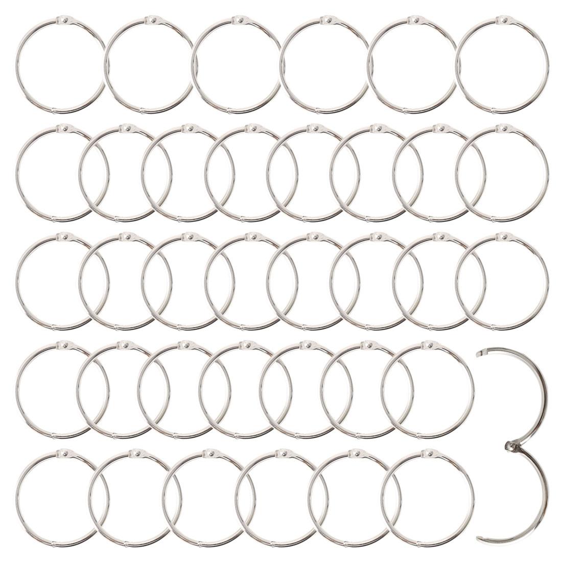 "Metal 1.5"" Shower Curtain Hook Rolling Hooks Clip Bathroom Decorative 36pcs"