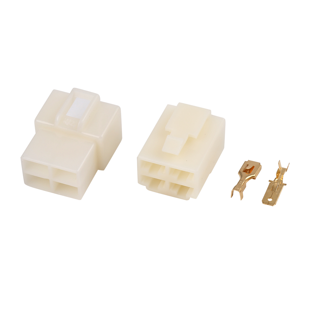10 Sets 4 Pin Car Electrical Wire Connector Male Female Housing Terminal 6.3mm