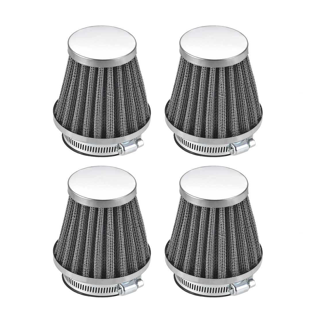4Pcs 50mm Air Filter for 50cc 110cc 125cc 150cc 200cc Scooter Atv Dirt Bike