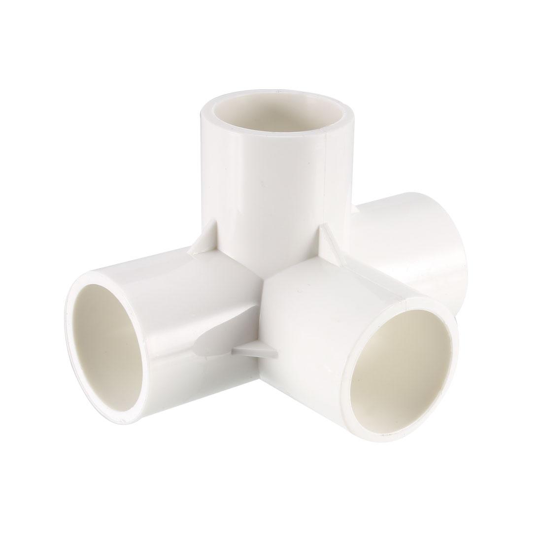 4 Way 25mm Tee PVC Fitting Elbow - PVC Furniture - PVC Elbow Fittings 6Pcs