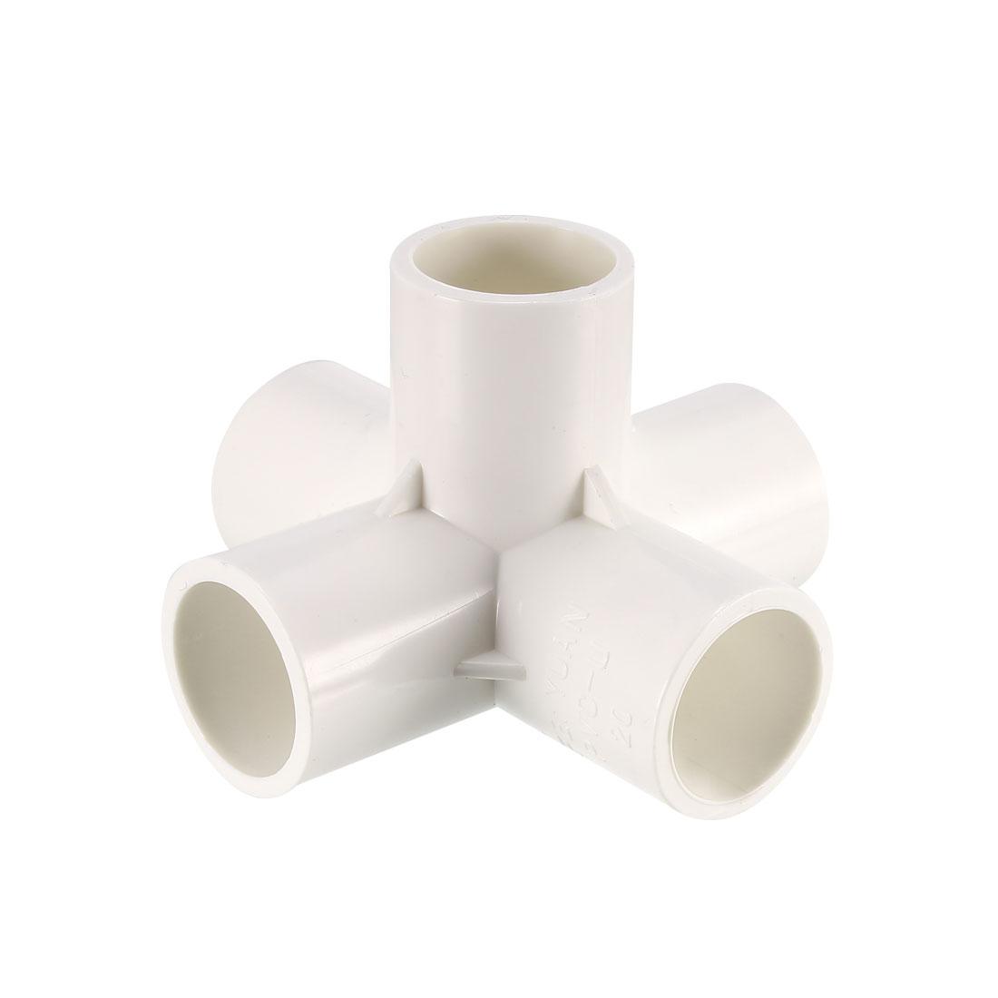 5 Way 20mm Tee PVC Fitting Elbow - PVC Furniture - PVC Elbow Fittings 6Pcs