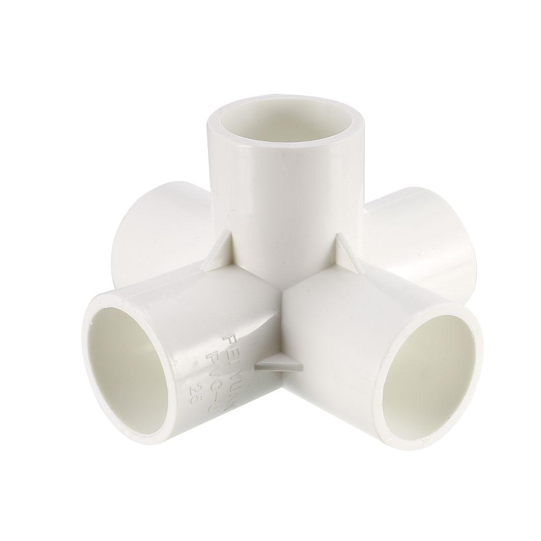 5 Way 25mm Tee PVC Fitting Elbow - PVC Furniture - PVC Elbow Fittings 2Pcs