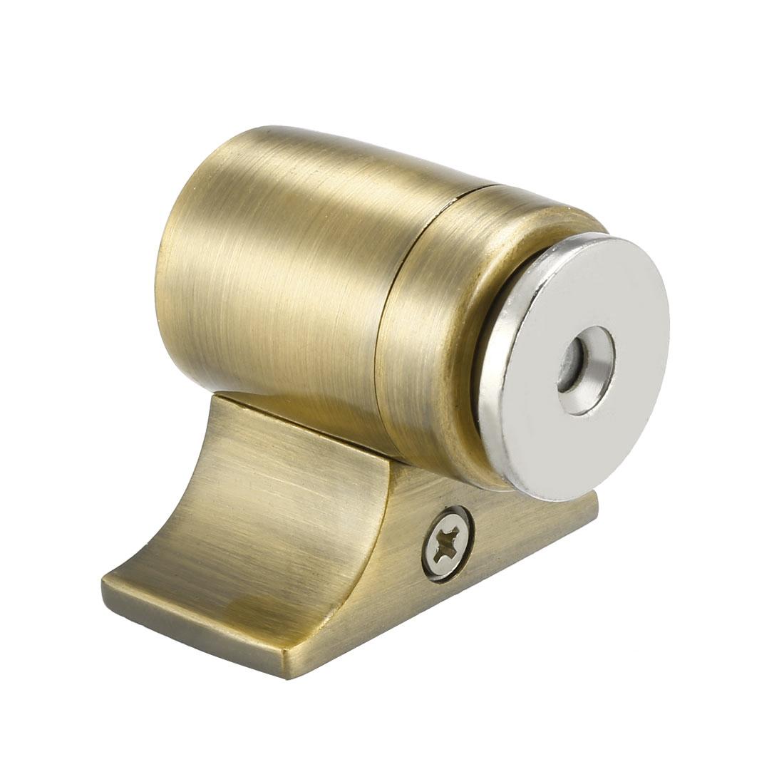 Magnetic Door Stopper Catch, Stainless Steel Door Stop Floor Mount Bronze Tone