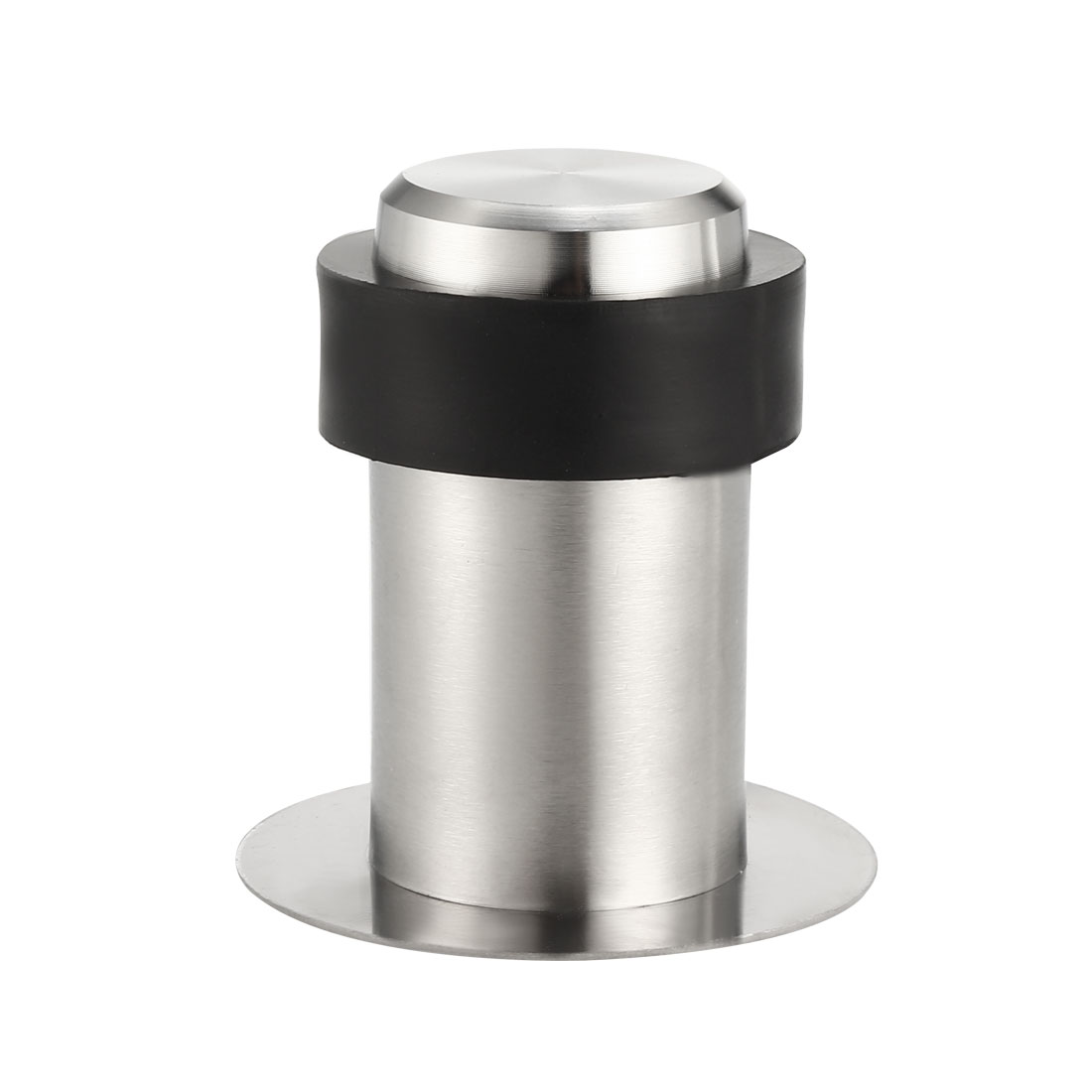 Stainless Steel Door Stopper Cylindrical Floor Mount Adhesive 60mm Height 2Pcs