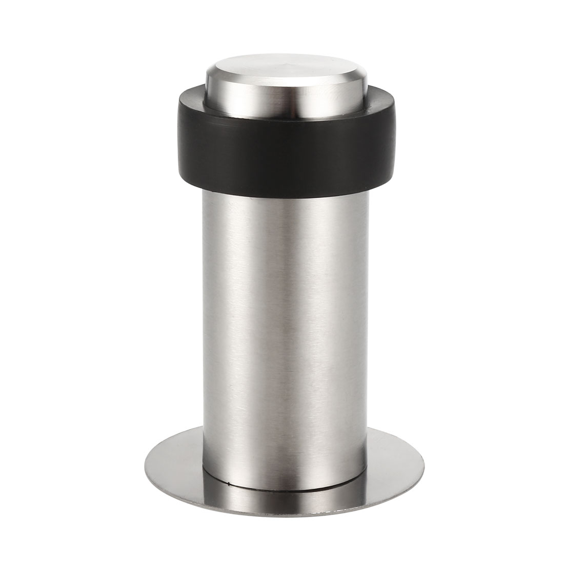 Stainless Steel Door Stopper Cylindrical Floor Mount Adhesive Sheets 80mm Height