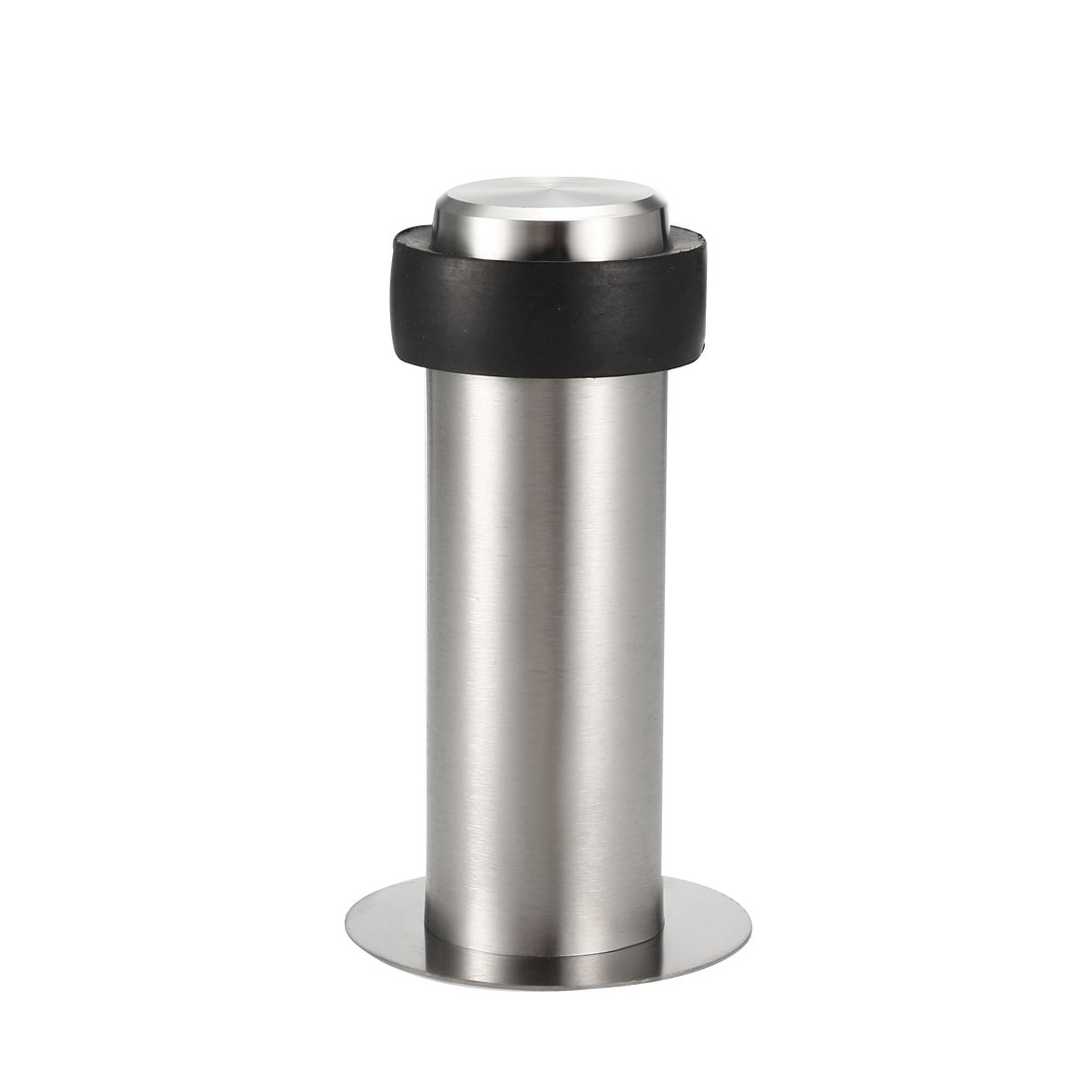 Stainless Steel Door Stopper Cylindrical Floor Mount Adhesive Sheet 100mm Height