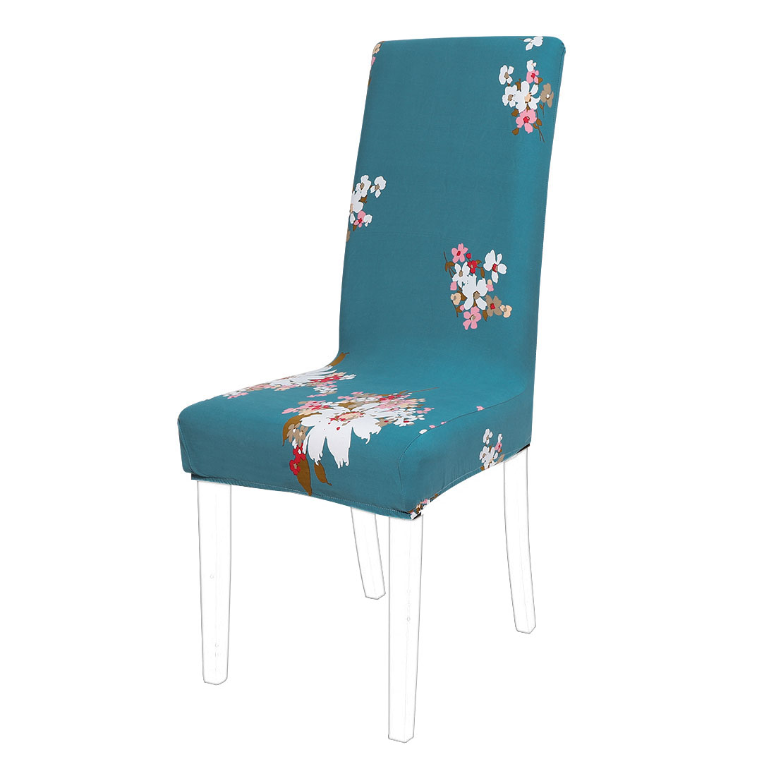 Floral Print Spandex Chair Covers Fit Home Dining Room Seat Slipcover, Style 9