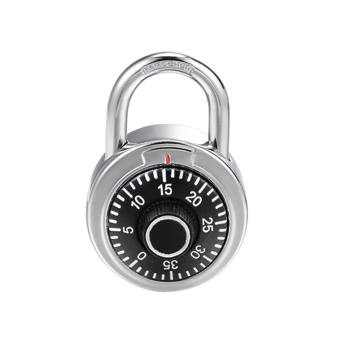 Combination Padlock Locker Lock 6mm Diameter Steel Shackle 45mm Body Width