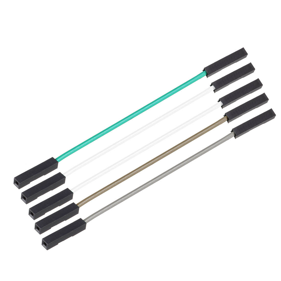 Female to Female 1Pin Jumper Wire 2.54mm Pitch Ribbon Cable 110mm Long 5pcs