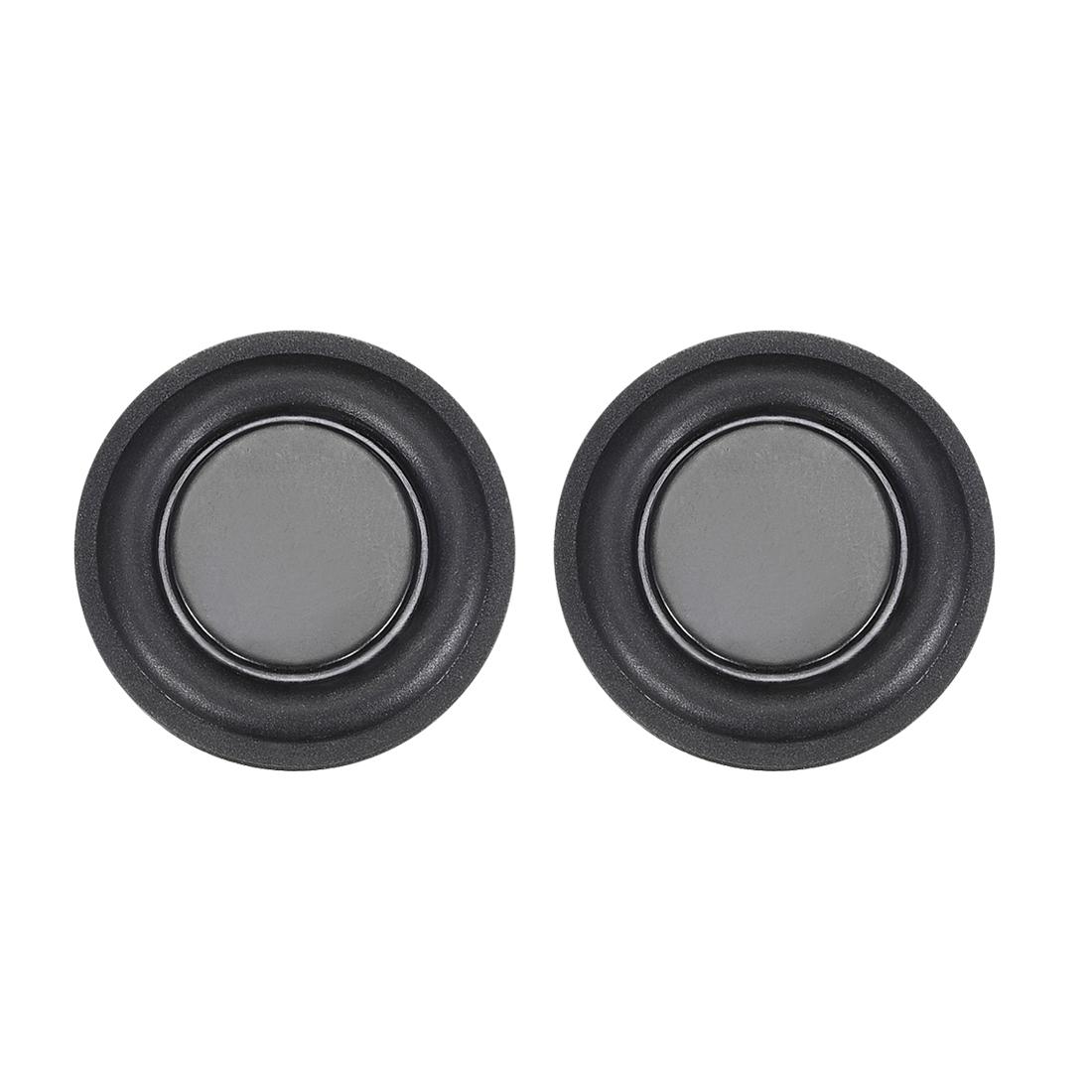"2Pcs 1.25"" 32mm Bass Speaker Passive Radiator Rubber Vibration Plate DIY Repair"