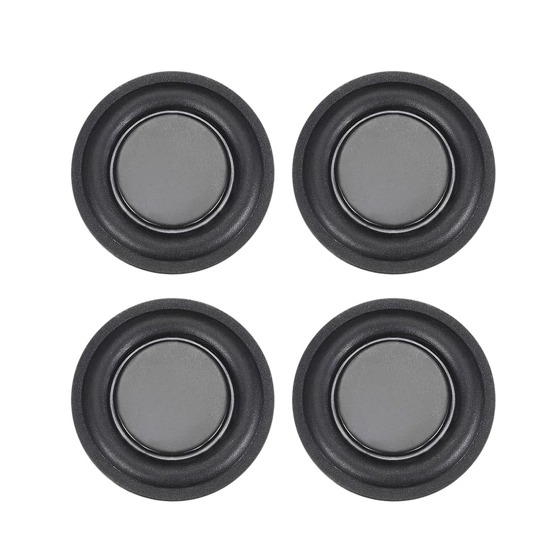 "4Pcs 1.25"" 32mm Bass Speaker Passive Radiator Rubber Vibration Plate DIY Repair"