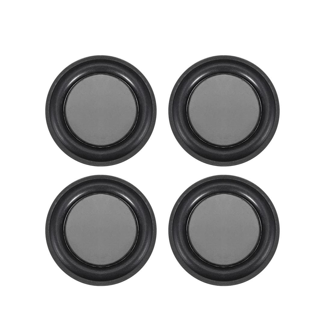 "4Pcs 1.8"" 45mm Bass Speaker Passive Radiator Rubber Vibration Plate DIY Repair"