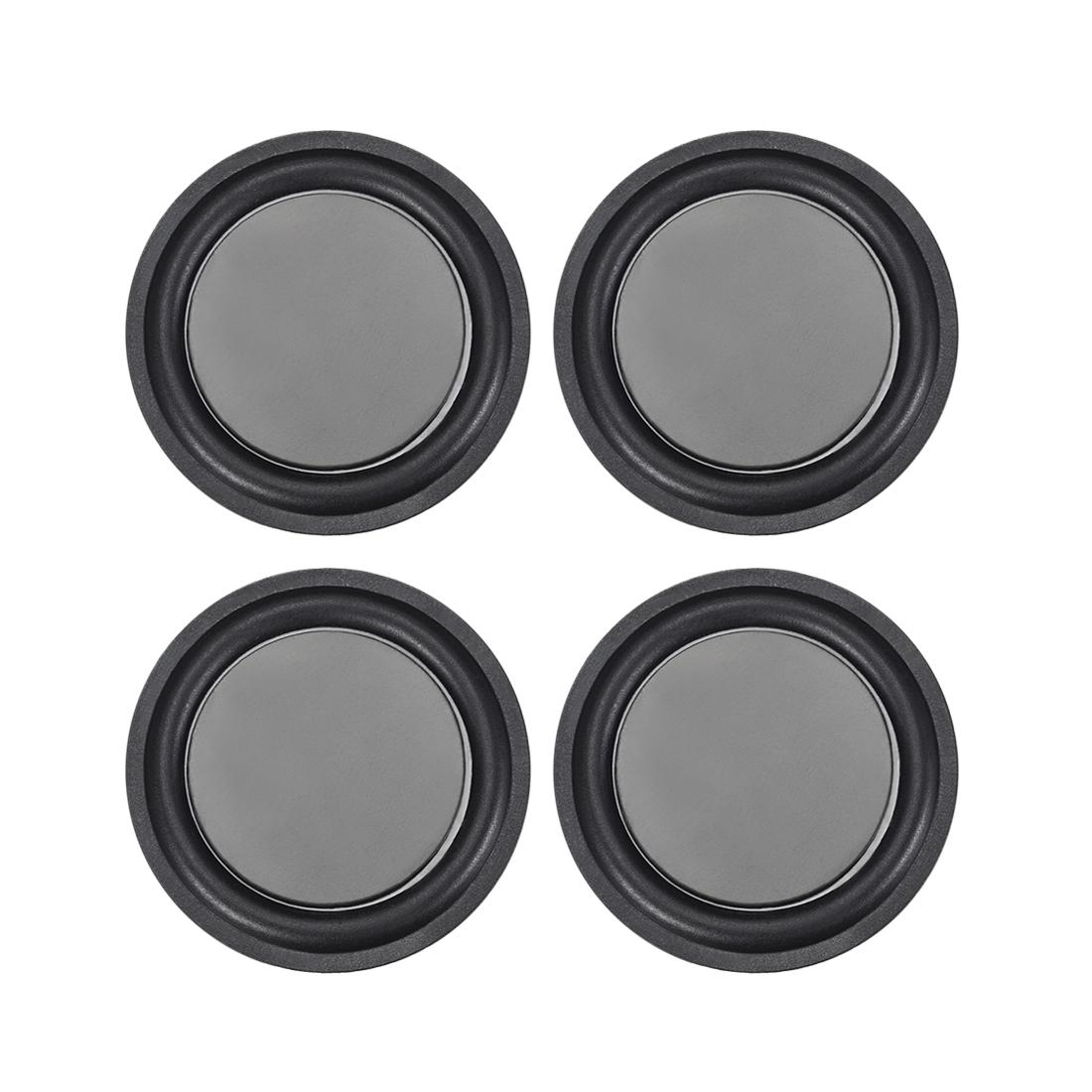 "4Pcs 2.5"" 67mm Bass Speaker Passive Radiator Rubber Vibration Plate DIY Repair"