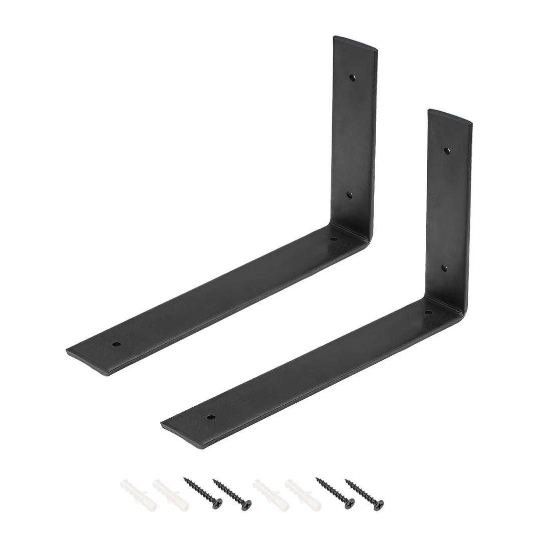 Wall Shelf Brackets Heavy-duty 10-inch x 6-inch Shelf Support Corner Brace 2pcs