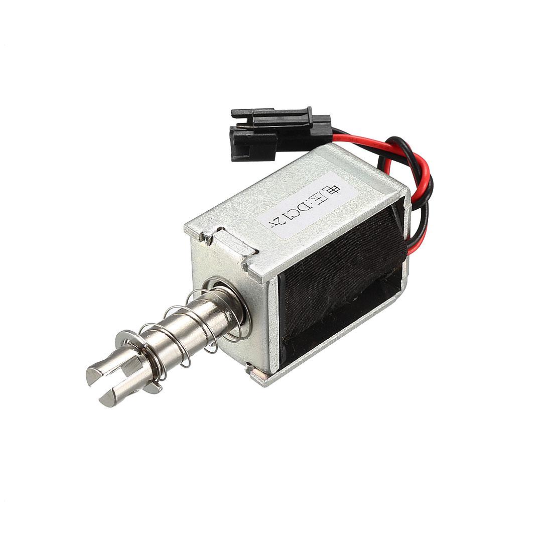 DC 12V 400g 4mm Pull Type Solenoid Electromagnet, Open Frame, Linear Motion