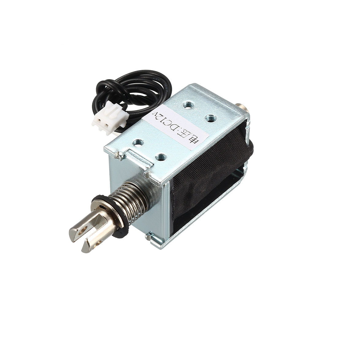 DC 12V 400g 10mm Pull Push Type Solenoid Electromagnet, Open Frame, Linear Motion