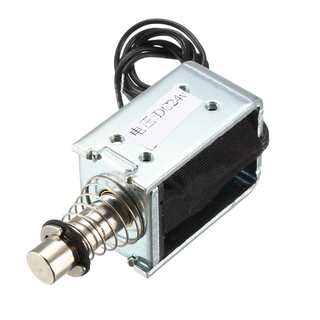 DC24V 10mm Pull Push Solenoid Electromagnet,5mm/250g,Open Frame,Linear Motion
