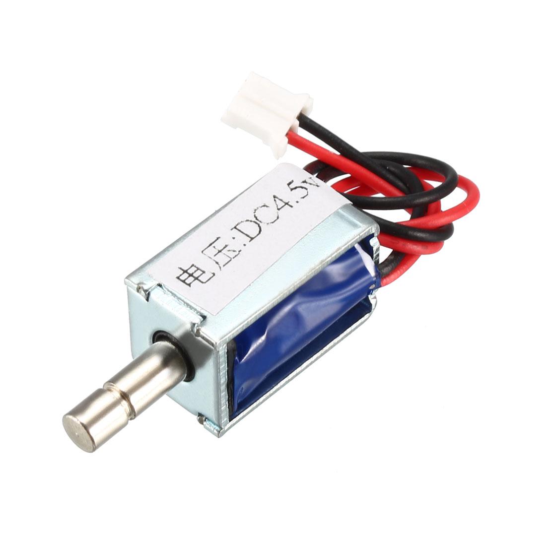 DC 4.5V 20g 3mm Pull Type Solenoid Electromagnet, Open Frame, Linear Motion