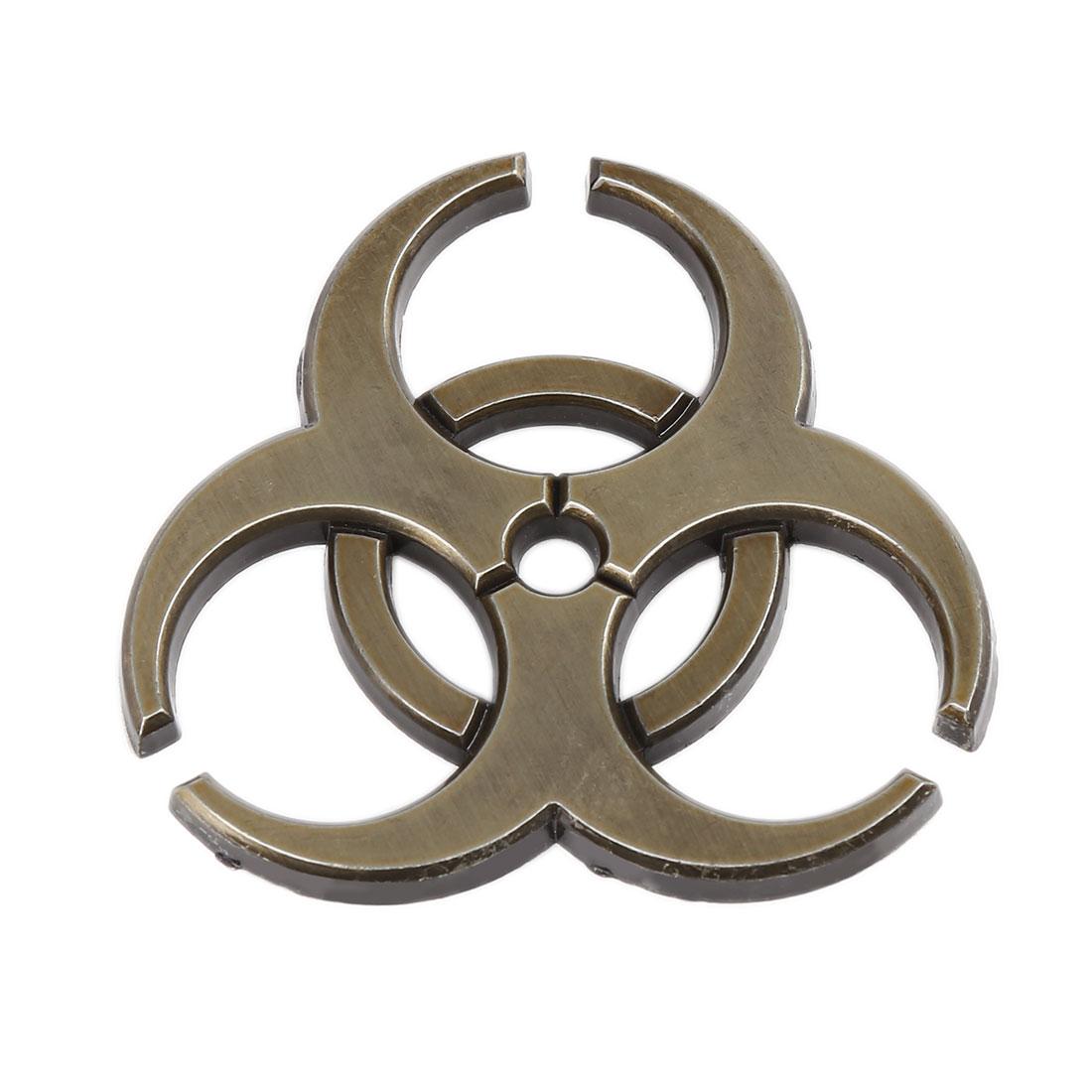 Bronze Tone Self Adhesive Car Body Metal Decorative Emblem Badge Decal Sticker